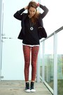 Zara-jacket-topshop-leggings-rick-owens-t-shirt-converse-sneakers