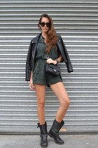 Biker boots and playsuit