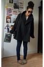 Black-oversized-la-redoute-coat-navy-skinny-george-jeans-black-zara-bag