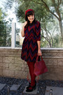 Deep-purple-chevron-print-london-times-dress-brick-red-target-tights