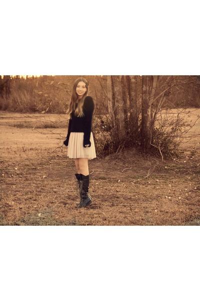 black Wet Seal sweater - dark brown Charlotte Russe boots
