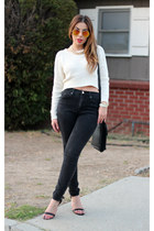 Cream Cropped Sweater