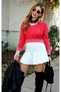 Black-zara-boots-red-cropped-zara-sweater-black-vintage-coach-bag