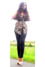 Black-joes-jeans-dark-brown-leopard-chiffon-necessary-clothing-top
