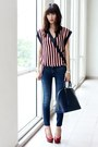Navy-zara-jeans-blue-leather-alma-louis-vuitton-bag