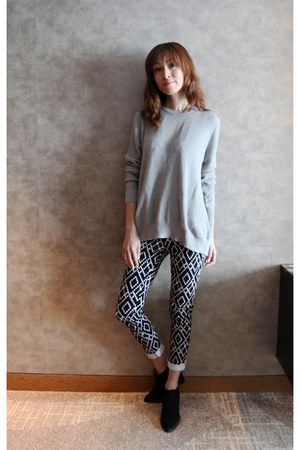 black Zara boots - Mood & Closet jeans - heather gray Mood & Closet sweater
