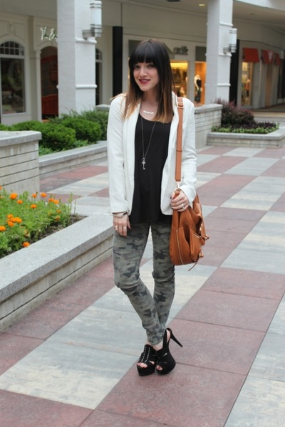 piperlime blazer - Hudson jeans - piperlime bag - just fab heels