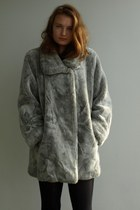 faux fur vintage coat