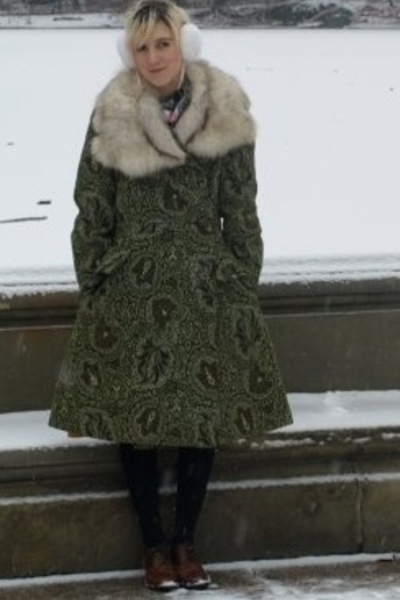 vintage coat - American Apparel accessories - Topshop shoes