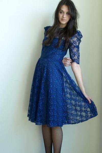 Vintage Wedding Dresses  Sale on Lace Dress Vintage From Ebay Dresses    50 S Edith Lace Ascot Dress