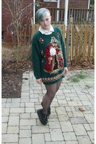 christmas sweater - Demonia wedges