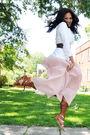 White-vintage-blazer-pink-vintage-skirt-brown-bcbg-belt-brown-zara-shoes