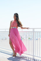 Sunkissed: Pink Maxi Dress