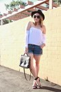 Black-forever-21-hat-black-coach-bag-white-mombasa-rose-top