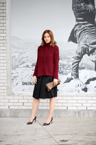 MMM for H&M skirt - Zara sweater - Claire Vivier bag - Christian Louboutin pumps