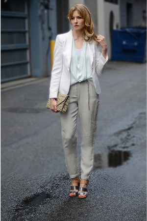 Topshop pants - Aritzia top - sam edelman sandals
