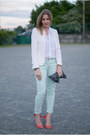 Zara-blazer-theory-blouse-sandro-pants-carven-pumps