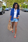White-ralph-lauren-shirt-red-valentino-shoes-blue-zara-blazer
