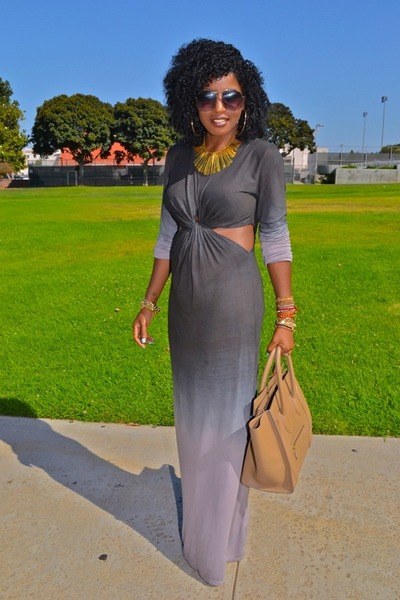 heather gray ombre cut out Ombre dress