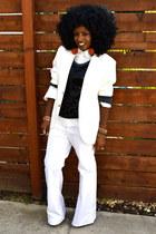 white Levis Flared jeans - white h&m mens blazer