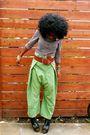 Brown-h-m-shirt-brown-armani-exchange-belt-green-street-vendor-thailand-pant