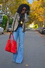 Light-blue-bell-bottoms-seven7-jeans-gold-glitter-sequin-zara-blazer