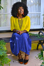 Blue-accordion-american-apparel-skirt-yellow-chiffon-american-apparel-blouse