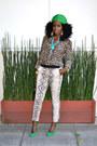 Dark-brown-crocodile-bag-light-brown-leopard-blouse-eggshell-snakeskin-pants