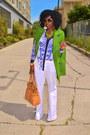White-j-brand-jeans-sky-blue-scarf-print-shirt-chartreuse-romwe-cape