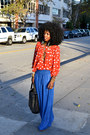 Red-polka-dot-blouse-blue-style-pantry-skirt