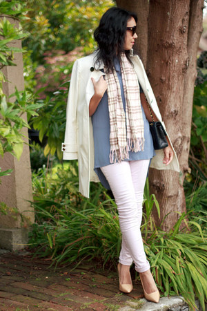 ivory Veeko coat - light pink skinny H&M jeans