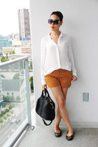 mustard polka dot Old Navy shorts - black rocco Alexander Wang bag