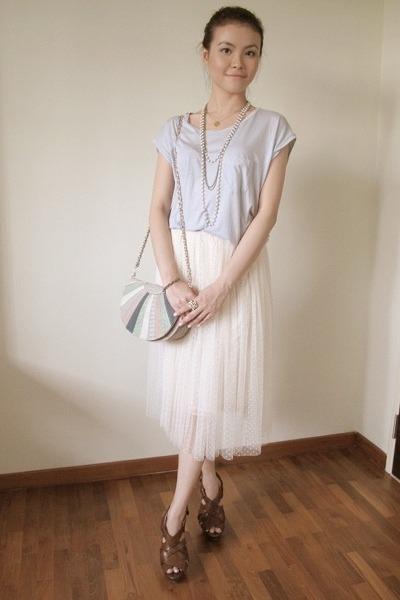 beige tulle skirt - light purple cotton Style Societal top