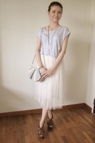 beige tulle skirt - light purple cotton Style Societal top
