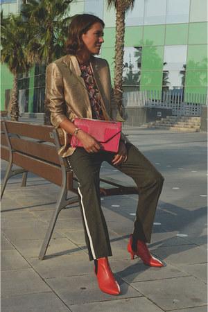 gold metallic weekday blazer - shoulder bag Yves Saint Laurent bag