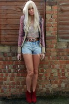 Matthew Williamson jacket - asos boots - Topshop top