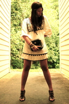 Zara dress - Nine West shoes - vintage chanel purse