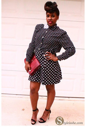 shirt - Charming Charlie purse - skirt - sandals - tie