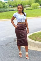 asos skirt - LA Made top - Kors Michael Kors heels