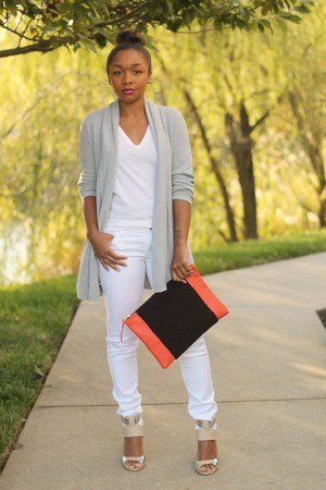 Forever 21 jeans - Gap sweater - Love Cortnie bag - JCrew t-shirt