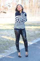 H&M sweater - H&M pants - Jessica Simpson heels