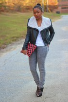 bcbg max azria jacket - H&M jeans - Love Cortnie bag - H&M top - Aldo heels