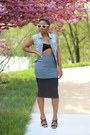 Aldo-sunglasses-asos-skirt-forever-21-top-jcrew-vest