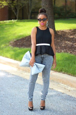 Blaque Label top - H&amp;M jeans - Love Cortnie bag - Shop Jeen sunglasses