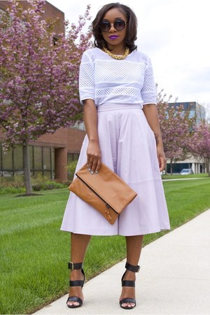 asos skirt - Love Cortnie bag - Nordstrom sunglasses - Steve Madden heels