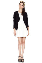 white Three Floor dress - black Three Floor jacket