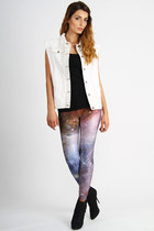 white Somedays Lovin jacket - violet Mr Gugu and Miss Go leggings