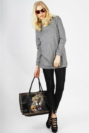 black leopard print Styligion bag - black black waxed Somedays Lovin jeans