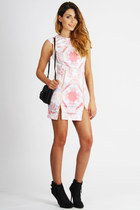 off white printed Maurie & Eve dress - black made in italy Hibou bag