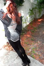 calzatura sweater - UO legging leggings - Jeffrey Campbell wedges